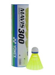 Yonex Mavis 300 Nylon Shuttlecock, 6 Pieces, Yellow/Green