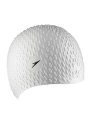 Speedo Bubble Swimming Cap, White