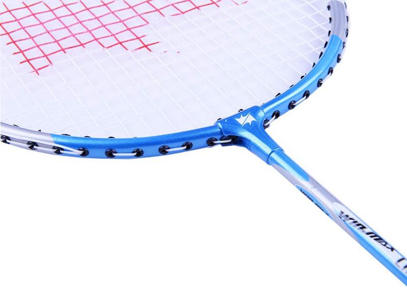 Winmax Steel Badminton Racket Set, 20 x 24.5 cm, 2-Piece, Multicolour