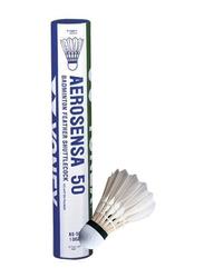 Yonex As 50 Feather Badminton Shuttlecock, 12 Pieces, White