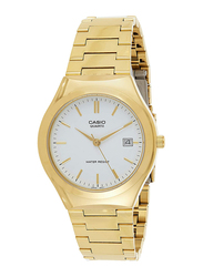 Casio Analog Watch for Men with Stainless Steel Band, Water Resistance, MTP-1170N-7A, Gold-White