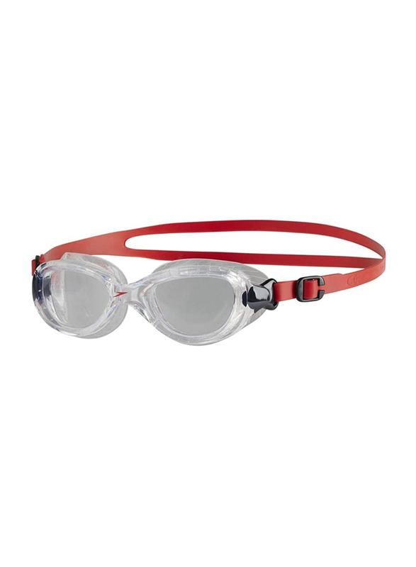 Speedo Futura Classic Junior Swimming Goggles, Lava Red/Clear