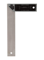 Stanley 200mm Cast Zinc Handle Try Square, E-46532, Black/Silver