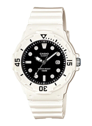 Casio LRW-200H-1EVDF Analog Watch for Women with Resin Band, Water Resistant, White-Black