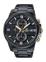 Casio Edifice Analog Watch for Men With Stainless Steel Band, Water Resistant and Chronograph, EFR-543BK-1A9VUDF, Black-Multicolour