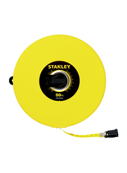 Stanley 50m/10mm Metric-Imperial Closed Case Fiberglass Measuring Tape, STHT34298-8, Yellow/Black