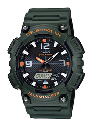 Casio AQ-S810W-3AVDF Analog/Digital Watch for Unisex with Resin Band, Water Resistant and Chronograph, Dark Green-Multicolour