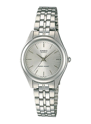 Casio LTP-1129A-7ARDF Analog Watch for Unisex with Stainless Steel Band, Water Resistant, Silver