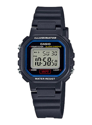 Casio LA-20WH-1CDF Digital Watch for Unisex with Resin Band, Water Resistant and Chronograph, Dark Grey-Multicolour