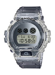 Casio G-Shock Digital Watch for Unisex With Resin Band, Water Resistant and Chronograph, DW-6900SK-1DR, Transparent-Grey