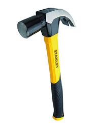 Stanley 450g Fiber Glass Handle Claw Hammer, STHT51391, Black/Yellow