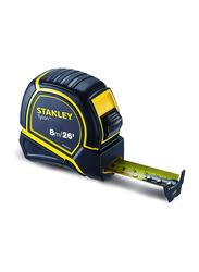Stanley 8m/E x 25mm Metric-Imperial Tylon Measuring Tape, STHT36195, Black