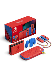 Nintendo Switch Mario Special Edition Console, 32GB, with 2 Controllers, Joy-Con Handle and Nintendo Switch base, Multicolour
