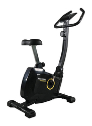 Marshal Fitness Magnetic Resistance Upright Exercise Bike with Eight Preset Resistance Levels, MFK-112B, Black