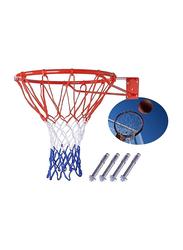 Marshal Fitness 45cm Basketball Hoop Net Ring, Multicolour