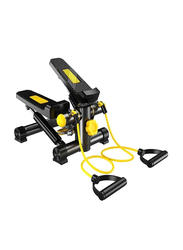 Marshal Fitness Step Air Climber Exercise Machine with Resistance Band, 712-D, Black/Yellow