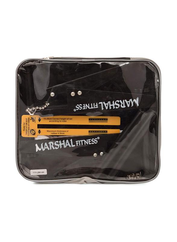 Marshal Fitness Table Tennis Net and Post Set, Black