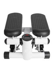 Exercise Mini Stepper Abs Toner with Rope, White/Black