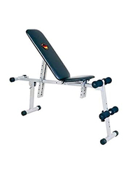 Marshal Fitness Exercise Bench with Both Side Incline, BXZ-S026, Blue/White