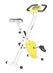 Marshal Fitness Magnetic Adjustable Folding Exercise Bike, MFDS-73XB, Yellow/White