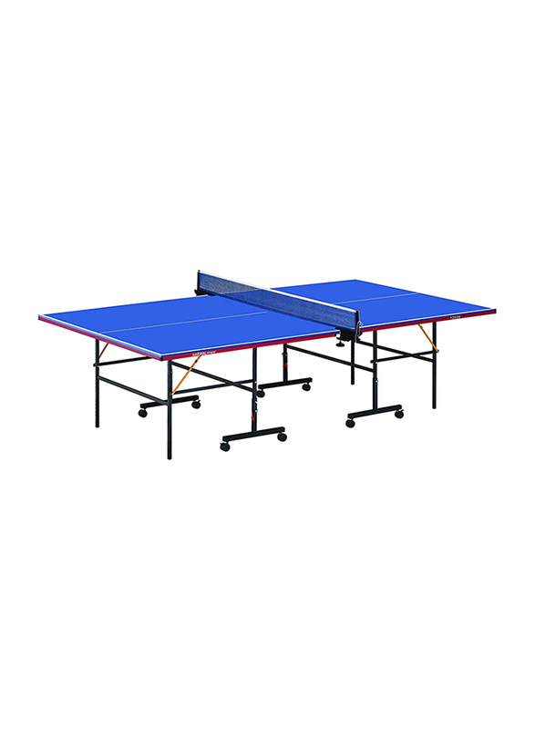 Marshal Fitness Table Tennis Table with Post and Net, 12606, Blue