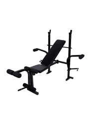 Marshal Fitness Adjustable Multifunctional Foldable Weight Lifting Bench Home Gym, Black