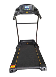 Marshal Fitness Home Use Space Saving Folding Treadmill with LCD Display, PKT-130-1, Black