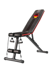 Marshal Fitness Adjustable Sit Up Bench Home Use Abdominal Trainer with Six Level of Adjustment, MFDS-S045, Black