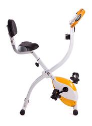 Marshal Fitness Stainless Steel Exercise Bike, MFDS-74XB, White/Orange