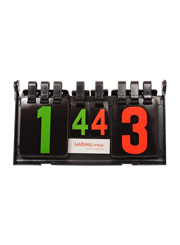Marshal Fitness Table Tennis Score Board, Black