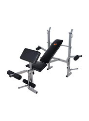 Marshal Fitness Deluxe Weight Exercise Bench, Black/Grey