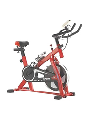 Marshal Fitness Whole Body Cardio Master Spinning Bike, Black/Red