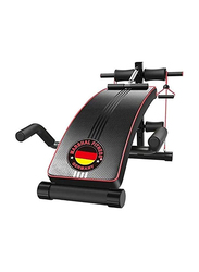 Marshal Fitness Heavy Duty Sit Up Exercise Bench, MFDS-1833, Black