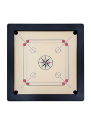 Marshal Fitness 18 inch Deluxe Carrom Board with Coins and Striker