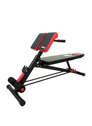 Marshal Fitness Multi-Functional Bench, MF-0072, Black/Red