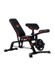 Marshal Fitness Heavy Duty Power Exercise Bench, MF-2800, Black/Red