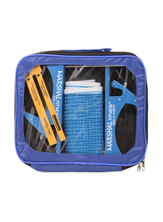 Marshal Fitness Table Tennis Net and Post Set, Blue