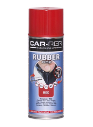 Car-Rep 400ml Rubber Comp Rubberized Spray, Red