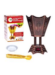 AM Hexagon Electric Incense Bakhoor Burner, Brown