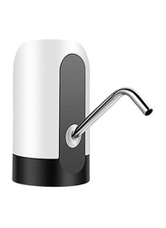 Rechargeable Wireless Auto Electric Drinking Water Bottled Pump Dispenser, SSS1029, White/Black