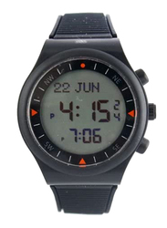 Al-Harameen Sport Azan Digital Unisex Watch with Rubber Band, Water Resistant, HA6506, Black