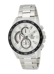Casio Edifice Analog Watch for Men with Stainless Steel Band, Water Resistant and Chronograph, EFV-550D-7AVUDF, Silver