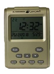 Zoon Harameen Azan Digital Clock, HA-3011, Gold