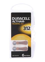 Duracell Activair Hearing Aid Zinc Batteries, Size 312, 60 Pieces, Brown