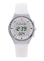 iSOLAR Digital Unisex Watch with Rubber Band, Water Resistant, HA6506WW, White