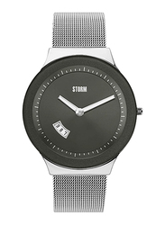 Storm Sotec Analog Unisex Watch with Stainless Steel Band, Water Resistant, ST-47075/GY, Silver-Grey