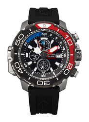 Citizen Promaster Analog Watch for Men with Rubber Band, Water Resistant and Chronograph, BJ2167-03E, Black-Red