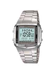 Casio Vintage Series Digital Quartz Casual Unisex Watch with Stainless Steel Band, Water Resistant, DB3601ADF, Silver-Grey