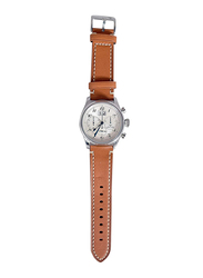 Spectrum Sport Analog Watch for Men with Leather Band, Chronograph, S23011M, Brown-Silver