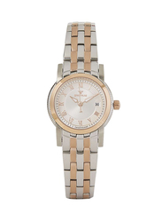 Spectrum Two Tone Analog Watch for Women with Stainless Steel Band, S12572-1L, Gold/Silver-Gold